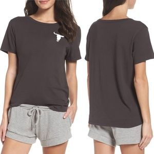 Chaser Cow Skull Lounge Tee Size Small